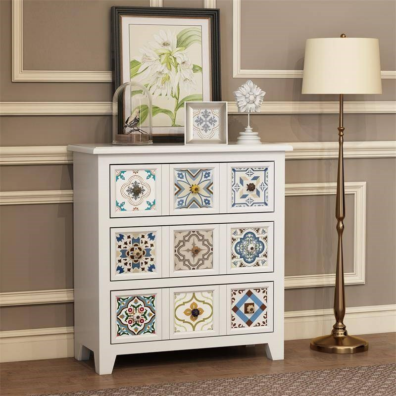 Bedroom furniture wood chest storage cabinet with drawers