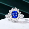 18k white gold 2.03ct natural sapphire ring