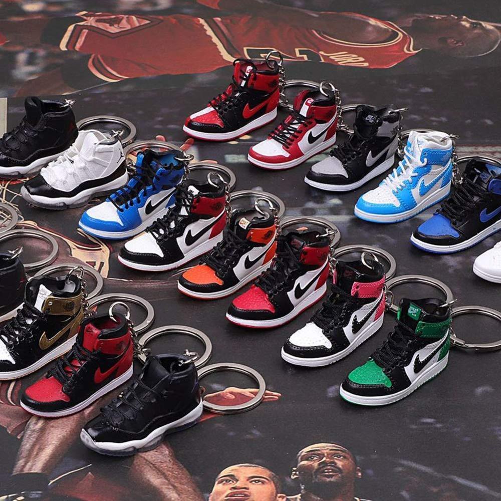 Mini Sneaker 3d Shoe Car Jordan Keychains Couple Bag Pendant Aj ...