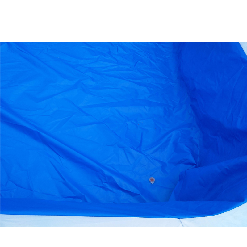 Blue water slide with pool inflatable double lane slip slide tropical inflatable water slides
