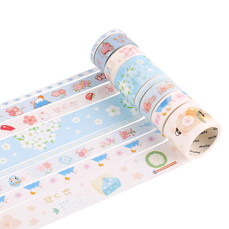 Custom Printing Stationery Masking Journal Notebook Planner Accessory Stickers Set Washi Tape
