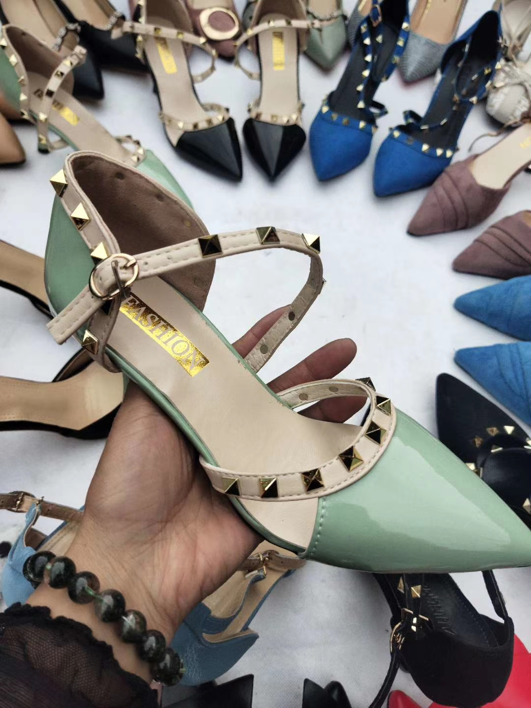 2021 new fashion High heels pointed shoes wholesale for lady