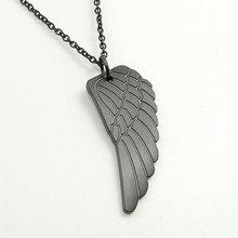2/шт., популярный стальной кулон без подвесок с крыльями ангела, черное перо, длинная цепочка, чокер, подарок для влюбленных пар, друзей(Китай)