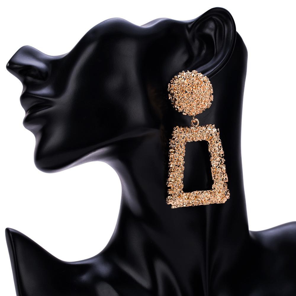 Лидер продаж на Amazon, богемные украшения, большие серьги с геометрическим рисунком, серьги для женщин