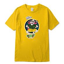 Мужская футболка из 100% хлопка XIN YI, Повседневная футболка с круглым вырезом и принтом Dragon Ball, высокого качества(Китай)