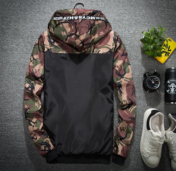 Недорогая ветровка, мужские повседневные весенние камуфляжные куртки с капюшоном, мужская уличная одежда, спортивная одежда в стиле хип-хоп, камуфляжная армейская куртка, одежда
