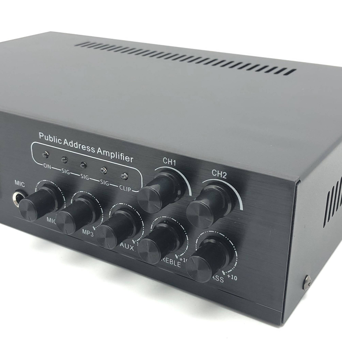 RTS 10 SET 50watt broadcast constant voltage 2 Channels volume control pa system usb / sd card reader 50w power mini amplifier
