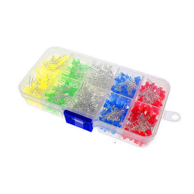 Yswdz F3 3Mm Led Light-Emitting Diode Boxed 500 Pcs Luminous Tube 100 Per Color 5 Colors Total 500Pcs