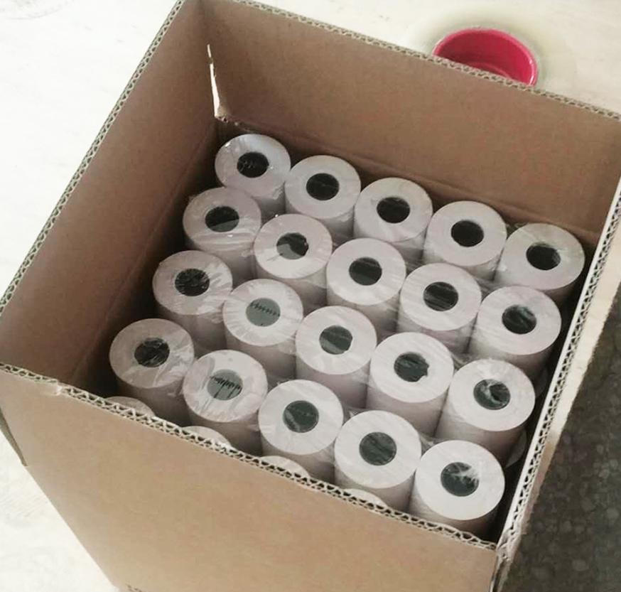 Китайская фабрика, оптовая продажа, кассовый аппарат до получения, ленточная печать, Pos-терминал, 57*40 мм, рулоны термобумаги