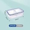 1150ml 2-compartment transparent