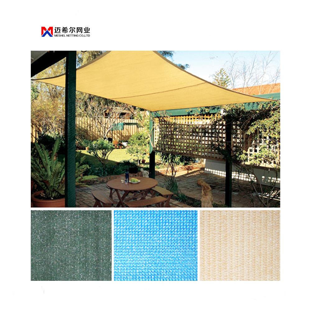 Meshel hot sale HDPE Custom Sized Colorful Sun Shade Sail/sun shade cloth