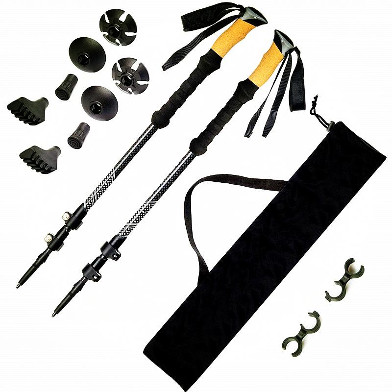 Противоударная Сверхлегкая палка из углеродного волокна для скандинавской ходьбы, телескопические походные трекинговые палки