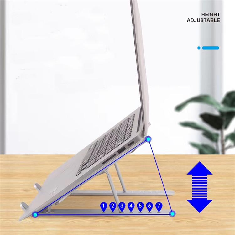 Adjustable 7 Levels Desktop Laptop Stand ,Foldable Aluminum Ergonomic Notebook Laptop Holder Stand