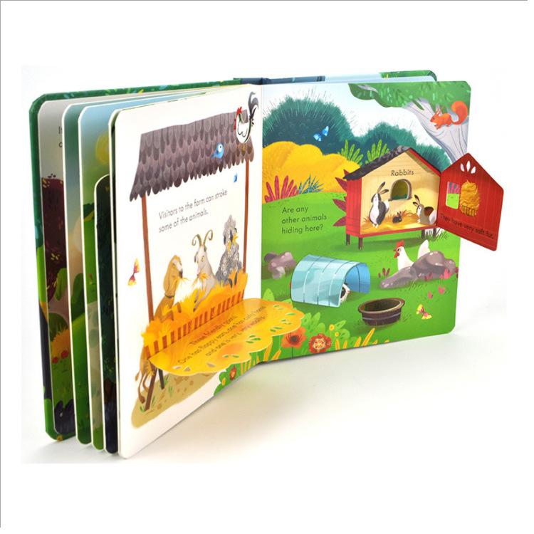 6 volumes Usborne Peep Inside English Educational 3D Flap Picture Books Children Reading Book