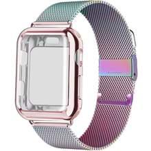 Чехол + ремешок для Apple Watch Band 44 мм 40 мм iWatch band 42 мм 38 мм Миланский Браслет Apple watch series 5 4 3 2 38 40 42 44 мм(Китай)