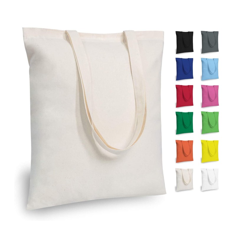 Reusable Eco friendly Custom Canvas Tote Bags Grocery Shopping Organic Cotton Cloth Bags