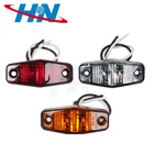 Waterproof motorcycle trailer truck car side light 2 led marker light side marker lamp 24V 12V for camper