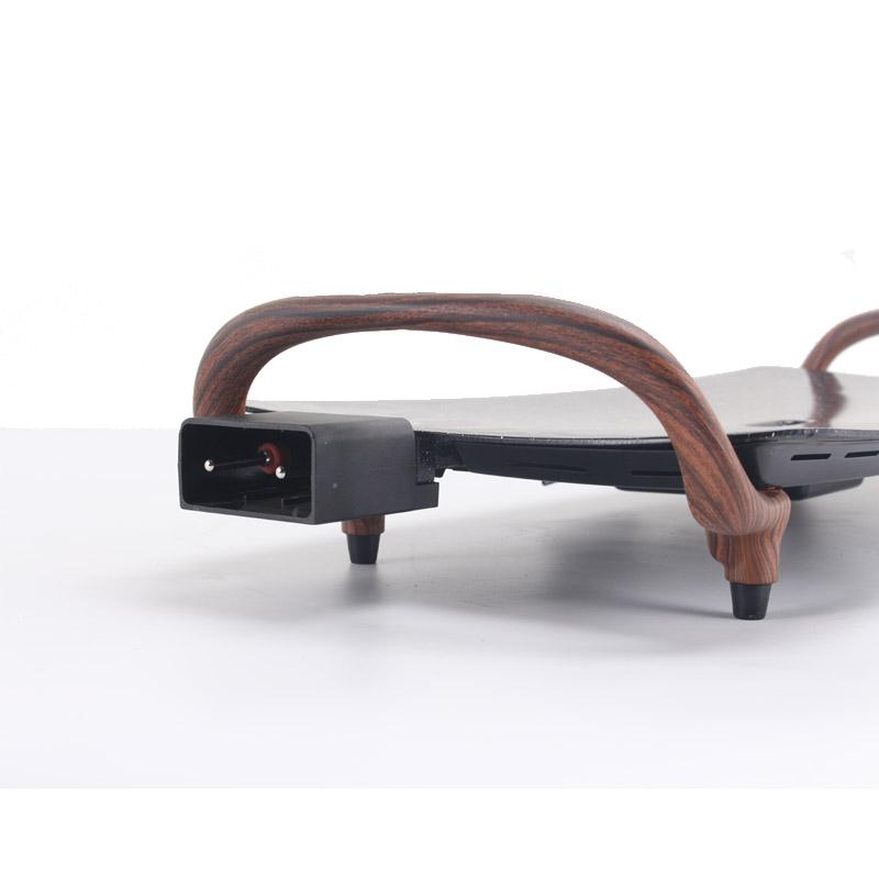 Многофункциональный элегантный гриль из дерева и камня, электрический гриль, антипригарная пластина