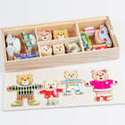Educational Toy Hot Sale Wholesale Dressing Game Kids Wooden Baby Early Educational Learning Toy Wooden Jigsaw Puzzle Custom Kids 3D Puzzles