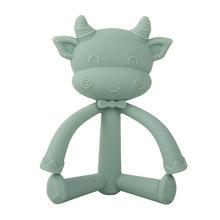 Детский прорезыватель, силиконовая подвеска с мультяшными животными, пищевая продукция для новорожденных, игрушки для прорезывания зубов(Китай)