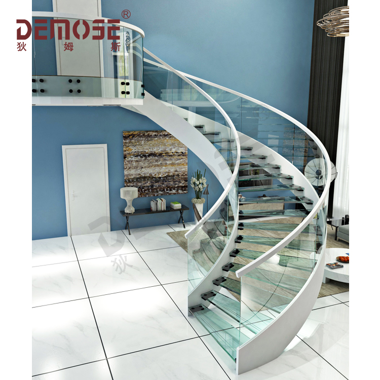 modern and luxury stair handrail residential stairs double steel plate