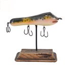 Ornaments Resin Bait December Colored Resin Sculpture Fishing Bait Ornaments Resin Table Top