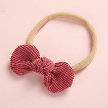 Нейлоновая повязка на голову с бантиками для новорожденных, очень эластичные резинки из мягкого вельвета, милые аксессуары для волос ярких ...(Китай)