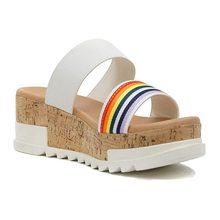 Соломенные женские босоножки без шнуровки, повседневная обувь на толстой подошве с открытым носком, пляжная обувь лето размера плюс 2020(Китай)