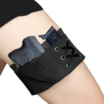 Kosibate Thigh Leg Holster Adjustable Women Concealed Carry Pistol Holster with Magazine