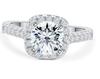 09;Platinum;square diamond ring