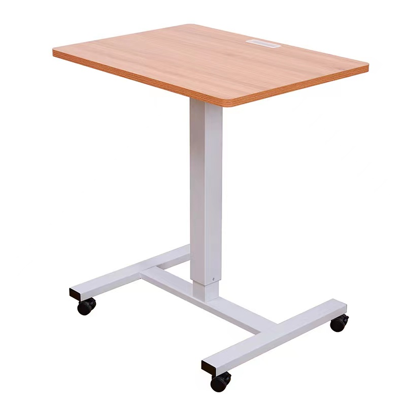 Home office gas lift desk movable