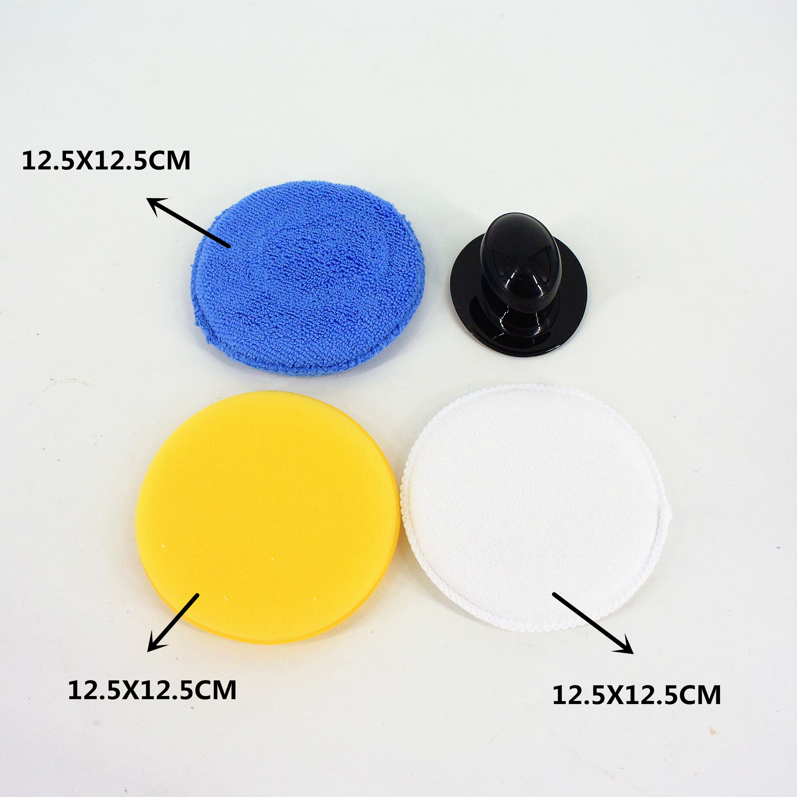 home cleaning tool 3PC Car Waxing Polish Microfiber Foam Sponge Applicator Cleaning Pads With Handle