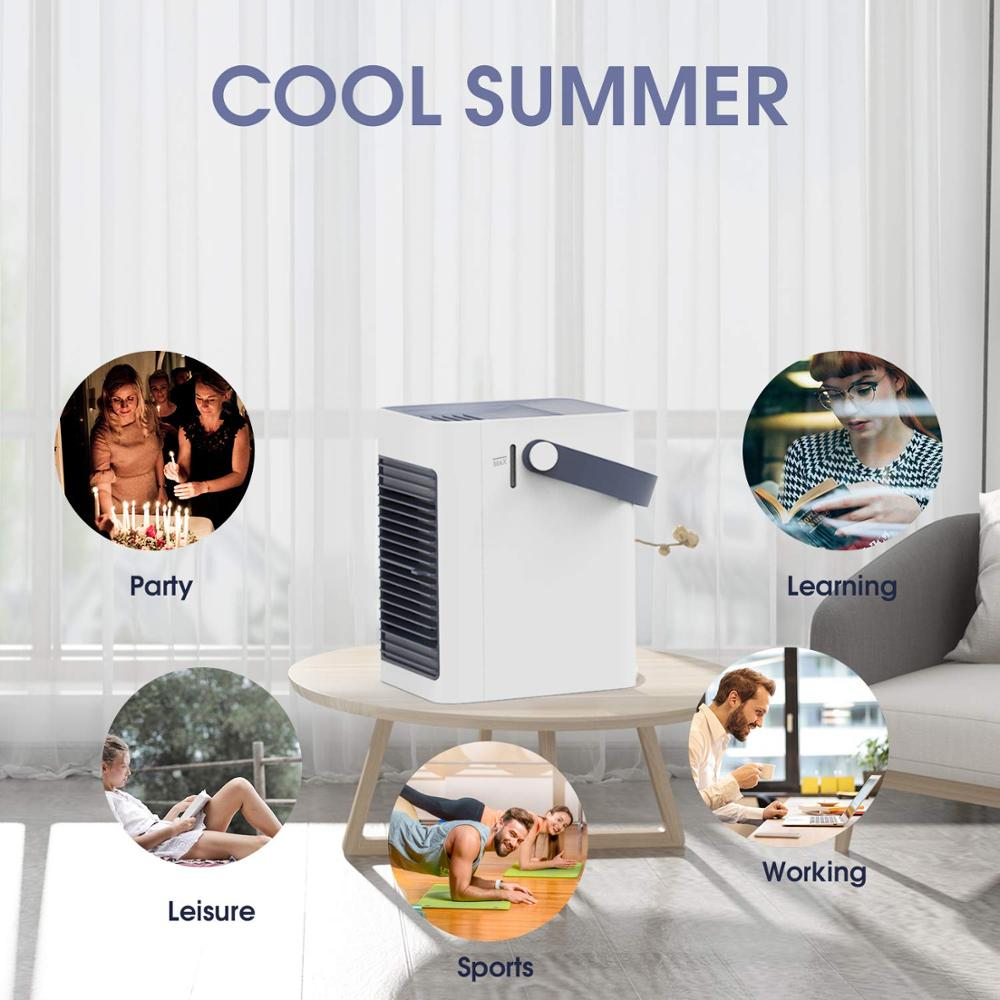 Smartly-designed mini portable air conditioner fan of ABS material