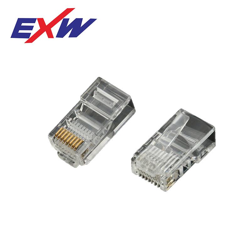 EXW High Quality Cat5E RJ45 Connector Plug Unshielded 8P8C