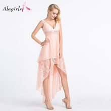 Alagilrs модное кружевное платье подружки невесты с высоким низом вечерние платья с v-образным вырезом 2020 милые Румяна халаты для женщин размер...(Китай)