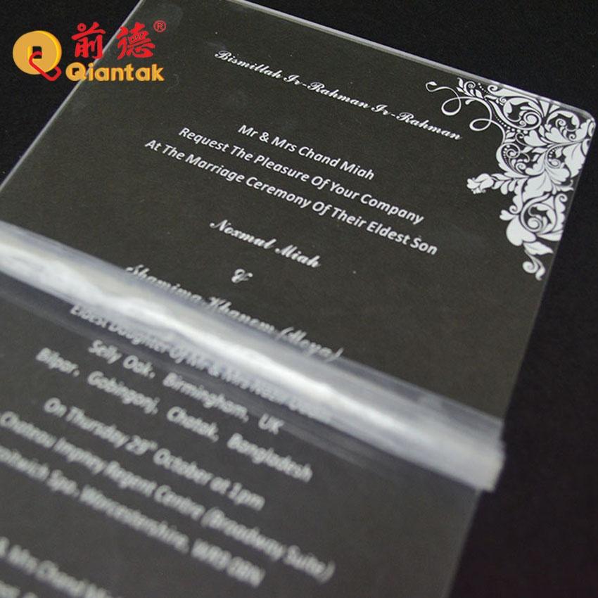 Оптовая продажа, современный дизайн, лазерная резка, акриловое Свадебное приглашение