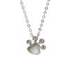 Finished white gold necklace pendant