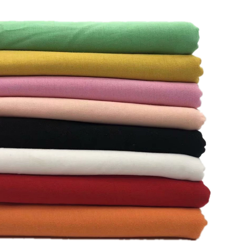 China Cheap 100 Cotton Combed Single Jersey Knitted Fabric Cotton T Shirt Fabric for Clothes/baby wear