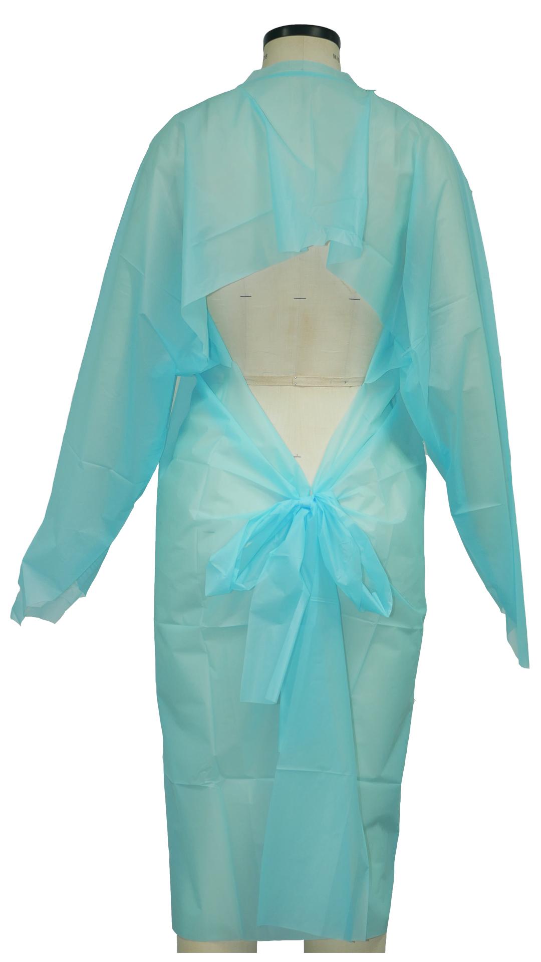 Высококачественный одноразовый синий медицинский Халат, одноразовый медицинский Халат с большим пальцем, производитель