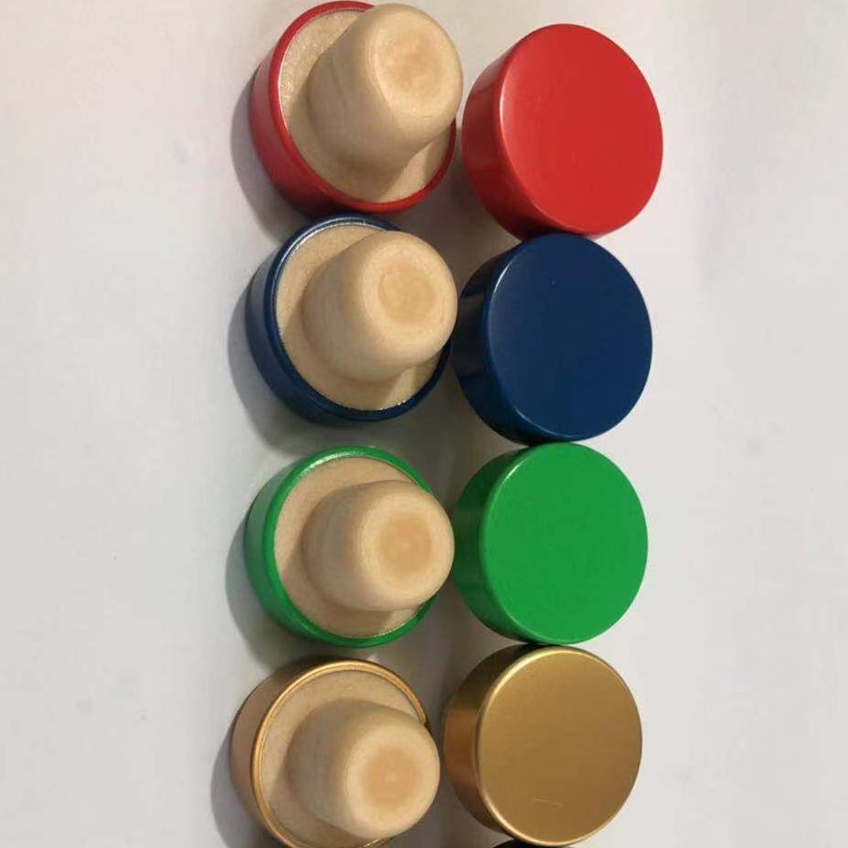 Пластиковая крышка с резиновой пробкой премиум-класса для классической отделки бутылки с винным бокалом
