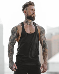Fitness Summer Sports And Leisure Stretch Breathable Blank Light Board Without Logo Stitching Vest Mens Tank Top Sleeveless