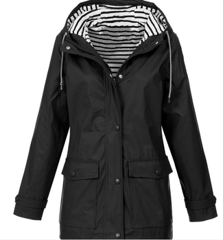 Woman coat Outdoor jacket spring sports stripe ladies waterproof coat