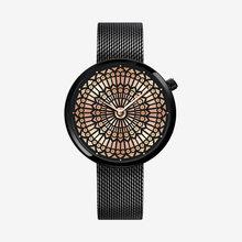 Shengke, роскошные Брендовые Часы с циферблатом и решеткой на окно, женские Уникальные Модные кварцевые часы, стальные сетчатые неподражаемые ...(Китай)