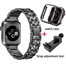 Ремешок для часов iWatch, из нержавеющей стали, для apple watch, 40, 44, 38, 42, 5, 4, 3, 2, 1(Китай)