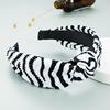 03#Black White Knotted Headband