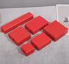 glossy red ring box 5*5*3.5cm