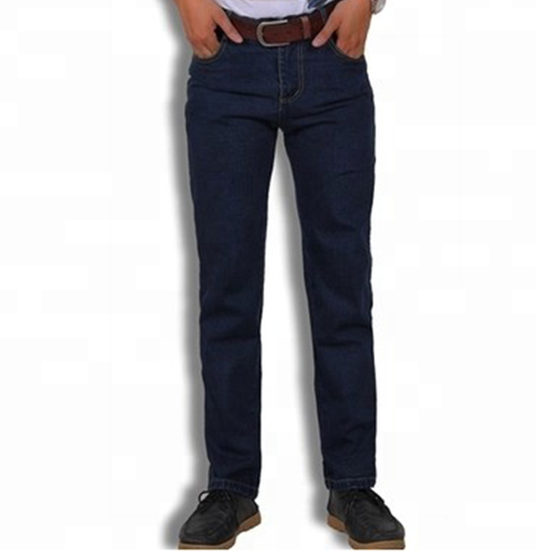 Custom made cargo work wear man pants embroider or printing blue jeans cheap jeans by OEM/denim mens jeans straight
