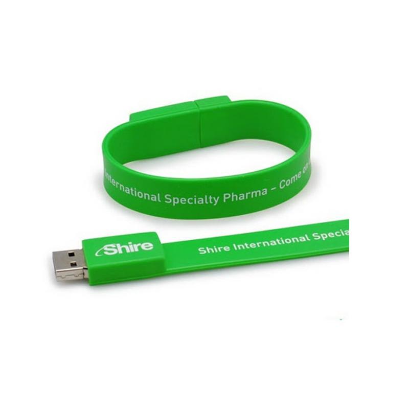 Custom USB Wristband 8GB 16GB 32GB Wrist Band Bracelet USB 2.0 Flash Memory Disk Stick Full Capacity - USBSKY | USBSKY.NET