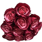 Flower 2020 New Foreign Trade Holding Flower 10 Head Holding Snowflake Rose Simulation Rose Wedding Flower Wholesale