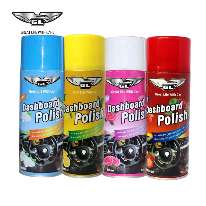 GL car care aerosol dashboard polish spray wax